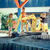 Great adventure at the playground Wilder Kaiser