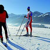 Cross-country skiing in Kössen