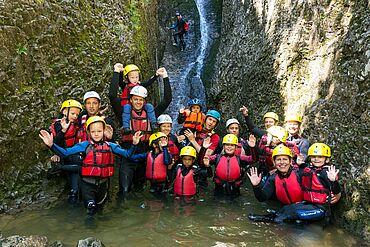 Kids Canyoning, (c) Adventure Club Kaiserwinkl