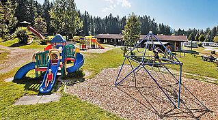 Großer Abenteuerspielplatz am Campingplatz Wilder Kaiser in Kössen