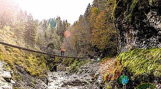 Die Grießbachklamm in der Region St. Johann in Tirol ist ein atemberaubender Naturschauplatz, © Sportalpen