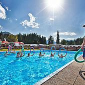 Schwimmbad direkt am Campingplatz Wilder Kaiser