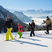 Schneeschuhwanderung mit der Familie im Kaiserwinkl