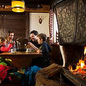 Gemütliche Hütte mit Kamin