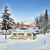 Traumhafter Wintertag im Eurocamp Wilder Kaiser