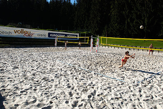 Volleyball am Campingplatz