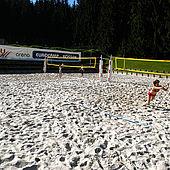 Beachvolleyball im Eurocamp Wilder Kaiser Kössen