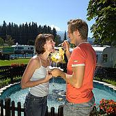 Romantische Terrasse Wilder Kaiser