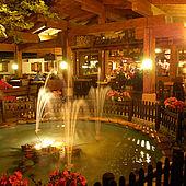 Gastgarten bei Nacht
