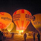 Nächtlicher Ballonstart Kaiserwinkl